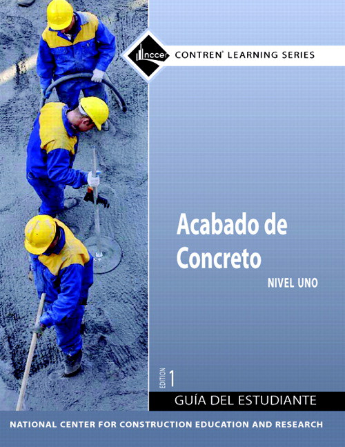 Concrete Finishing Level 1 Spanish Trainee Guide, Paperback
